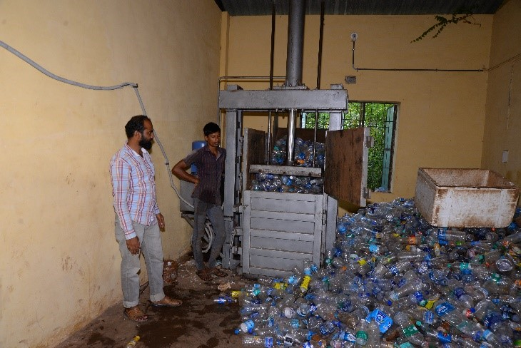 Plastic Processing (Shredding, bailing and pellet making) Unit in Pallikkara Grama Panchayat, Kasaragode