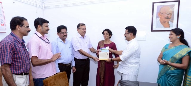 Dr. K.T Jaleel, Hon' Minister for LSGD releasing the suchitwa keralam newsletter in a function held in February 2017